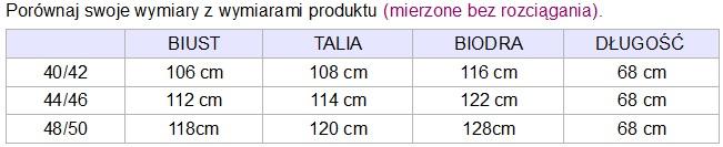 tabela rozmiarów isabella