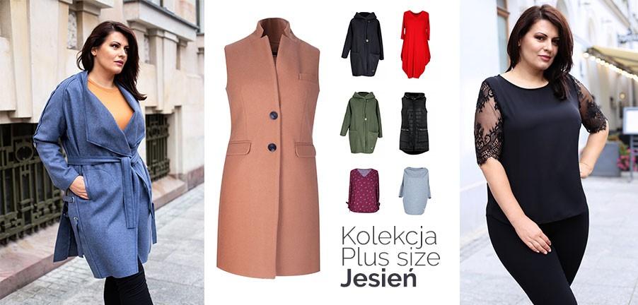 Kolekcja jesień 2018 modne kurtki, swetry, płaszcze plus size