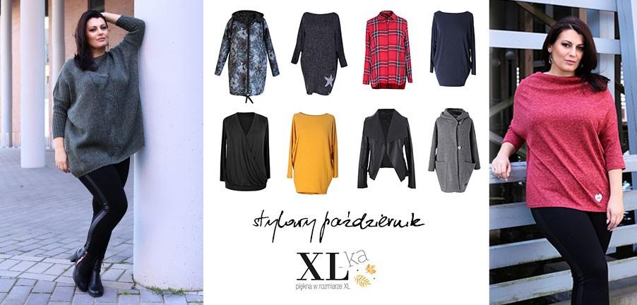 kolekcja plus size jesienna kurtki xxl sukienki plus size swetry zimowe
